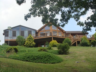 Photo for Lodge On South Holston Lake near Creeper Trail- Hot Tub, Firepit, Kayak, Pontoon