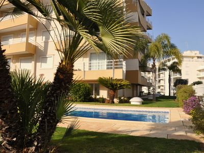 Photo for New T1 (pool & parking) 8 minutes walk to the beach