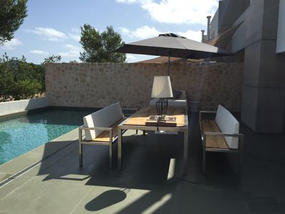Photo for Chalet on the golf course with private pool and close to the beach (longtermrentable)