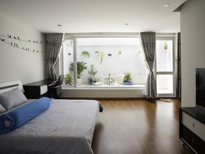 Photo for Le Soleil River View Penthouse with Garden