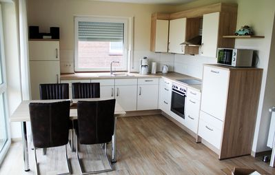 Photo for Apartment for 4 persons, 2 bedrooms, bathroom, living room with kitchen, terrace with garden, WLAN, incl. Endreinig