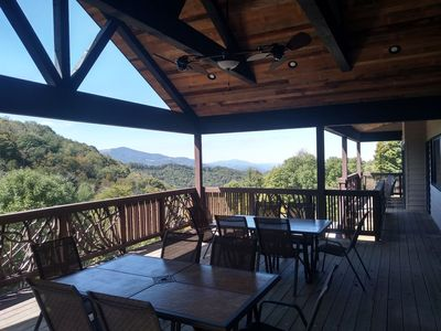 Photo for Hawks View Lodge: Gated community, theater room, stunning views, pool table, shuffle board!