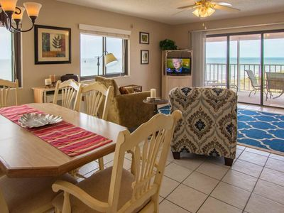 Photo for Beachfront Corner Unit, Stunning Views, W/D, Pool, Hot Tub, BBQ, Tennis, Wi-Fi & Cable-401 Reef Club