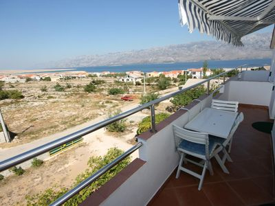 Photo for Two bedroom apartment with terrace and sea view Ražanac (Zadar)