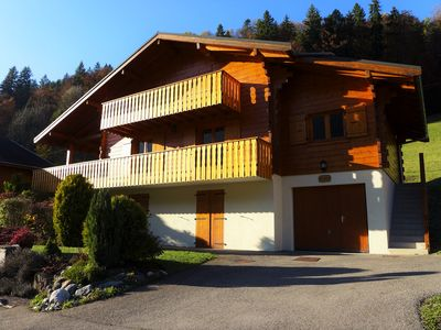 Photo for Luxury south-facing chalet 5 minutes from ski slopes, 15 minutes from Chatel