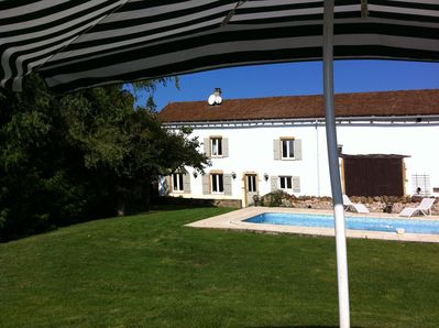 View of House and Pool from the 'G&T' spot.