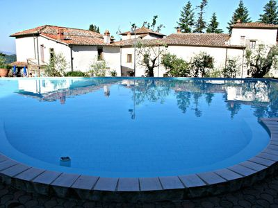 Photo for Nice apartment for 4 people with pool, WIFI, TV, pets allowed and parking