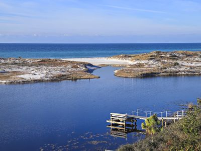 Photo for A Beautiful View - Gulf View, Lake Access, Private Dock in Santa Rosa Beach