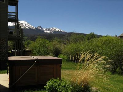 Photo for Private Hot Tub, Mountain Views, End Unit.  2 Car Garage, Gas Fireplace, Near The River and Rec Path