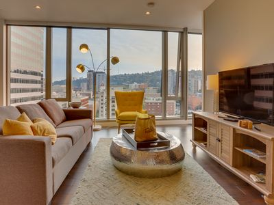 Photo for Two dog-friendly condos w/ gorgeous city views, walk to absolutely everything!