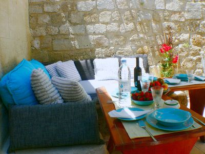 Photo for Medieval City house, garden-bbq & Terrace, free Wi-fi,all in walking distance