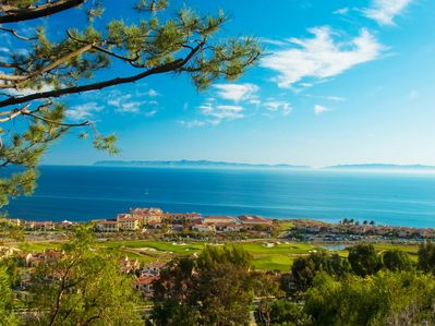 Terranea Resort & Golf Course with Pacific Ocean & Catalina Island in background
