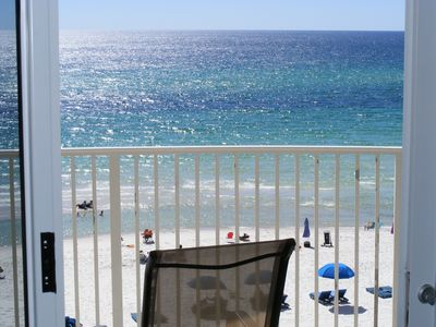 Photo for 5th FLOOR GULF FRONT--TURQUOISE WATER & SUGAR WHITE SAND / FREE BEACH CHAIRS