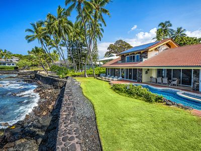 Photo for Oceanfront 5bd home w/amazing views, private pool, & hot tub. Relax and enjoy the sunsets. Hale Pua.
