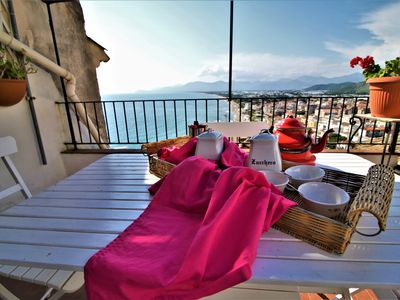 Photo for In the heart of the historic center with sea view