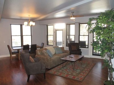 Eddyout and make your self at home in this well appointed condo, has the best River views in town.