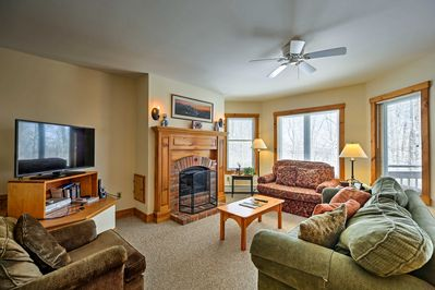 Make the most of your Jay getaway at this true ski-in/ski-out condo!