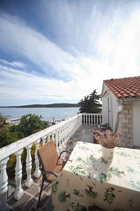 Photo for Apartment on the sea, on sandy beach, large terrace with sea view