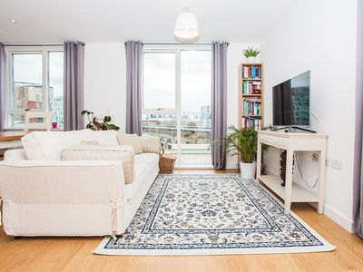 Photo for 1 Bed Flat with Roof Terrace in Central Location - One Bedroom Apartment, Sleeps 4