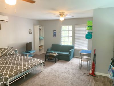 Photo for Studio with a lot of windows with WiFi ,Kitchen,Washer/dryer in a quiet location