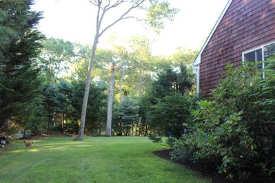 plenty of space for croquet or outdoor enjoyment