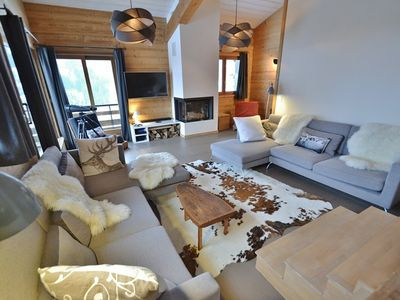 Photo for Luxury 5 bed chalet for 9-10 with sauna and wifi in La Clusaz!