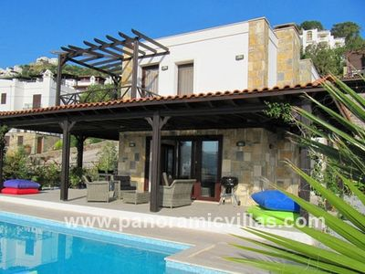 Photo for 4 bedroom Villa, sleeps 8 in Gündoğan with Pool, Air Con and WiFi