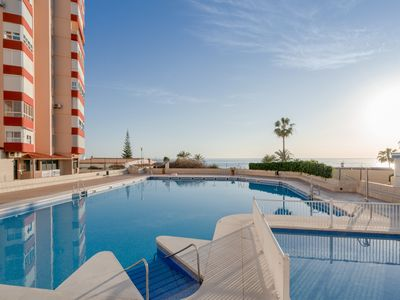 Photo for Fantastic Apartment With Sea View, Mountain View, Wi-Fi, Shared Pool & Terrace