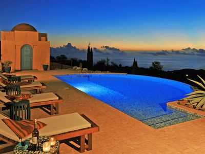 Photo for Unique villa with stunning 180 ° sea views. Spectacular pool terrace.