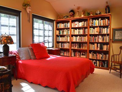 library bedroom sunshades shown plus privacy blinds