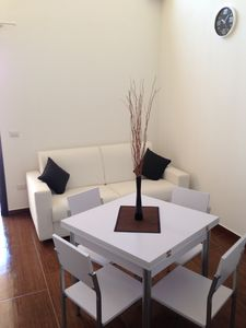 Photo for Superb apartment with garden just steps from the sea