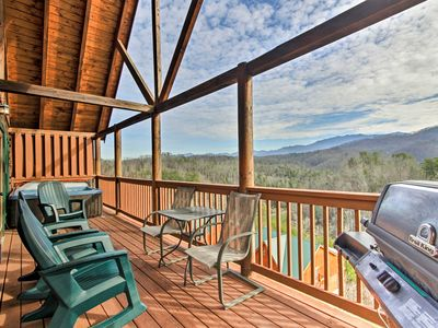 Photo for NEW! Smoky Mountains Cabin w/ Hot Tubs & Views!