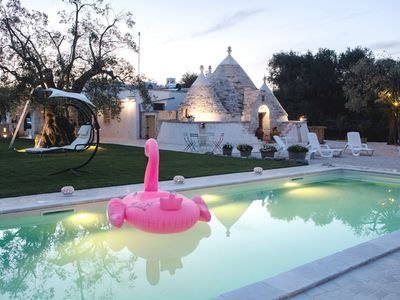 Photo for Trulloolea with swimming pool and private garden - sea at 8 km - wifi - linen