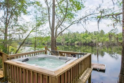 3 person hot tub on the dock!