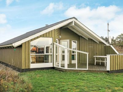 Photo for Wooden Holiday Home in Jutland with sauna and terrace