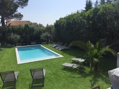Photo for VILLA CLIMATISEE WITH SWIMMING POOL 800m FROM THE SEA WITH WIFI