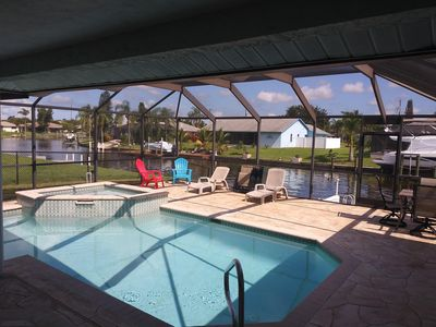 Photo for Beautiful 3 BR/2 Bath, pool with hot tub home with Gulf access