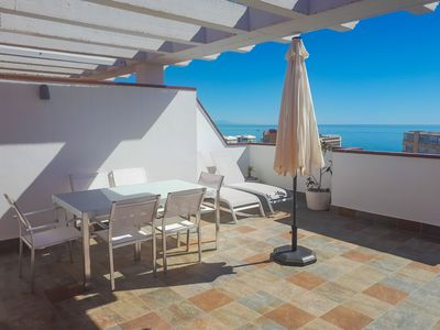 Photo for Duplex penthouse with sea views. Two parking spaces. The Carihuela
