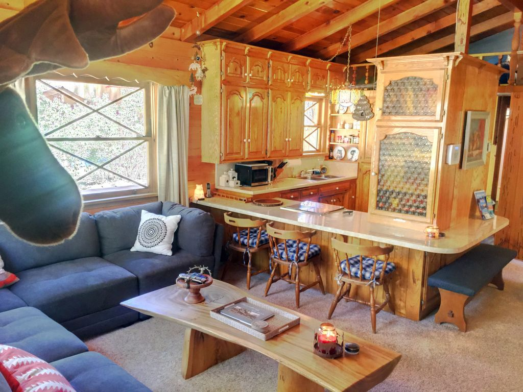 windows by and ceilings lake rentals swedish burning pin chalet woodsy vaulted wood walls pine big stove cabins trees facing cabin owner style bear
