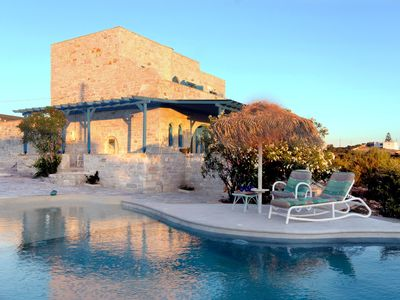 Photo for Aegean Seashell Villa with private pool and beach!