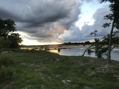 Photo for Waterfront Llano River Cabin w/Huge Deck