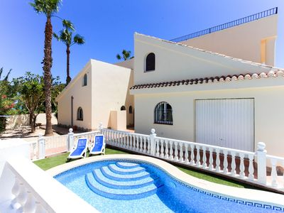 Photo for Seafront beach villa, sleeps 24 with pool, 4 apartment complex, exclusive use