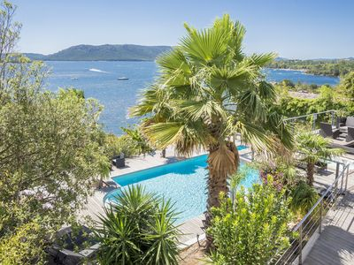 Photo for VILLA FEET IN THE WATER IN THE GULF OF PORTO VECCHIO; SPA AND HEATED POOL