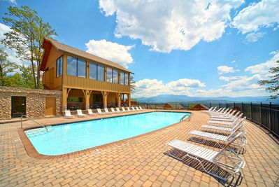 Beautiful Pool Access - Tennessee Treasure: Walk to the pool (Image shows clubhouse & outdoor pool with views)