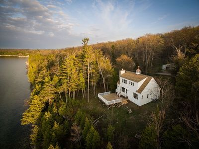 Photo for Beautiful Home with specatcular views of Garrett Bay and Gills Rock!