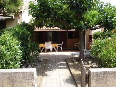 Photo for Villa with garage, 100m beach and port, large south facing terrace, quiet
