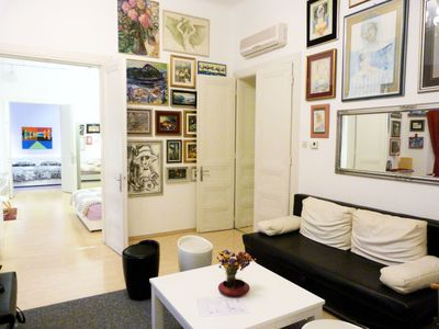 Photo for Large cosy apartment with high celings in very city center