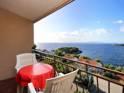 Photo for One bedroom apartment with balcony and sea view Prižba, Korčula (A-9227-b)