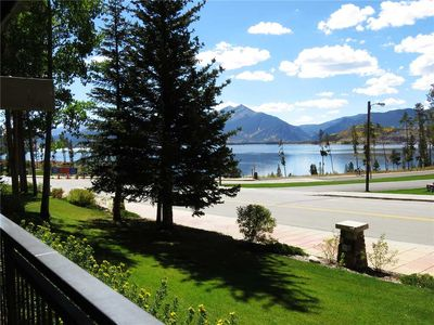 Photo for Overlooking Lake Dillon, Amphitheater. Ground Floor. Indoor Pool, Hot Tubs. Walk to Restaurants