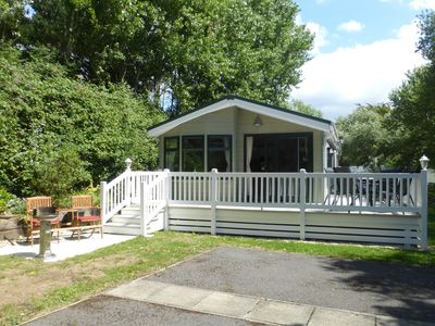 Photo for Well appointed 2 Bedroom / 2 Bathroom Holiday Lodge at Shorefield Country Park